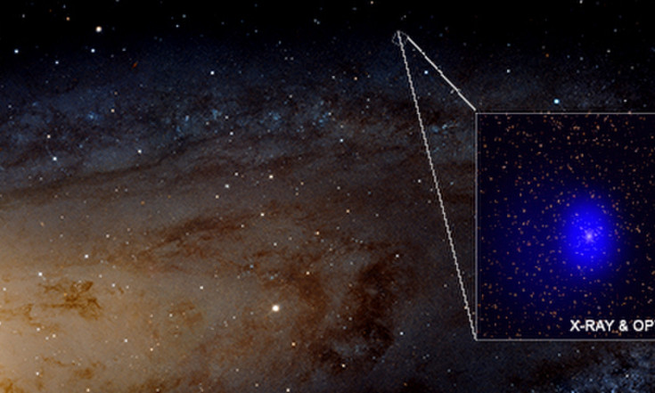 Cosmic Photobomb! Monster Black Holes Turn Up in New View of Andromeda Galaxy