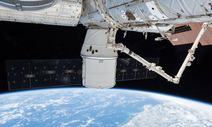 Crew Prepping Dragon for Departure While Studying Life Science – Space Station