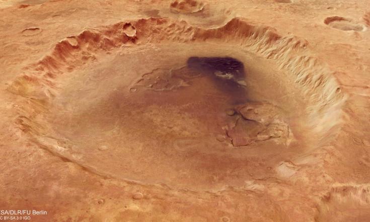 Der Einschlagskrater Neukum: Marskrater nach deutschem Planetenforscher benannt