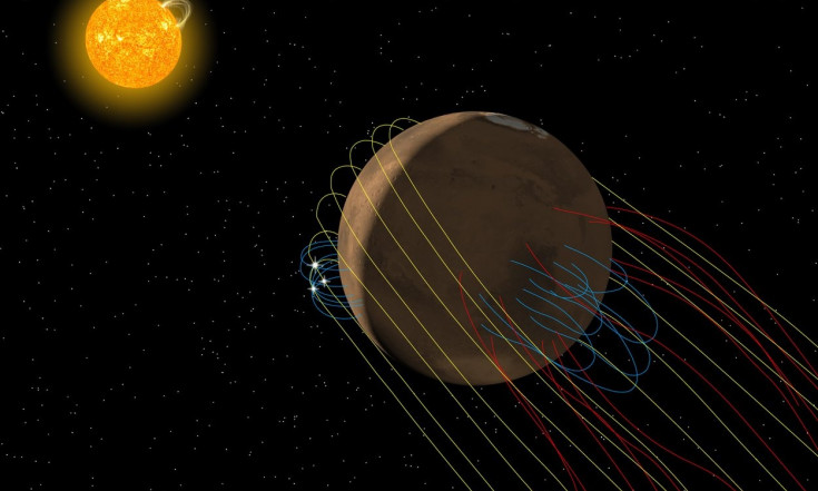 Do the Twist! Mars Has a Tangled Magnetic Tail