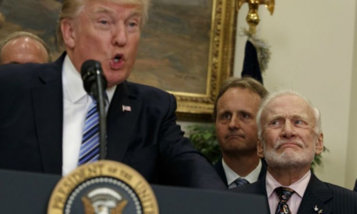 Donald Trump`s Bizarre Speech About Space Leaves Buzz Aldrin...