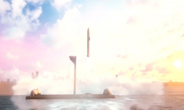 Elon Musk Says SpaceX`s Giant Mars Rocket Could Fly Passengers Around Earth