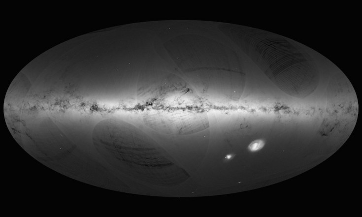 @esascience: TBT to first @ESAGaia sky map......