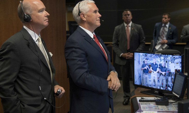 Hello, Up There! Vice President Phones Space Station Astronauts