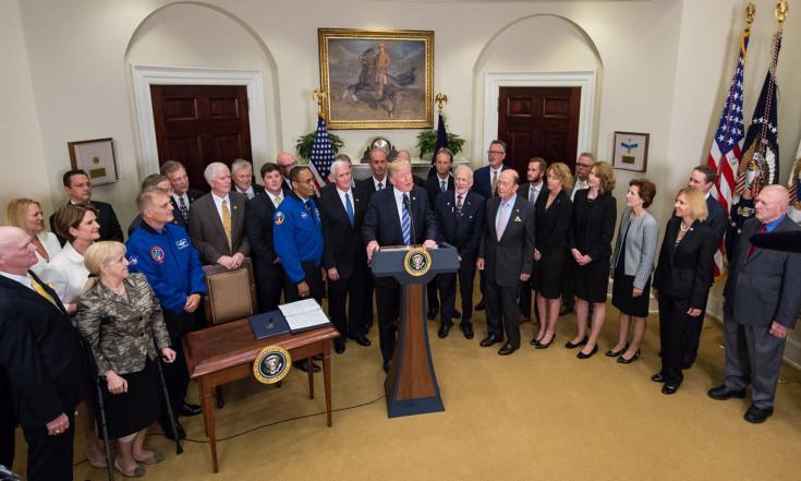 In Photos: President Donald Trump and NASA