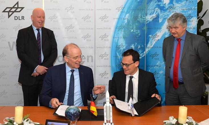 OHB und Arianespace einig: Heinrich Hertz wird mit Ariane 5 starten