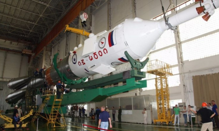 Photos & Video: Soyuz Rocket Assembled for Launch of Next ISS...