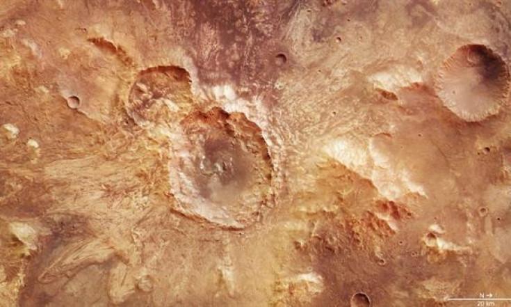 Platsch! Matschiger Einschlag auf dem Mars