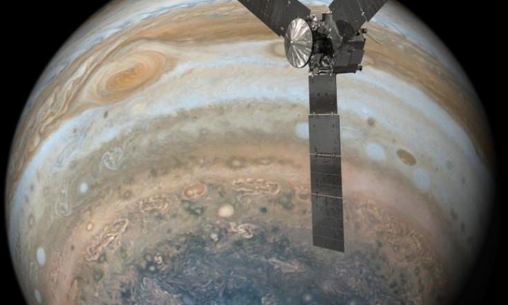 Raumsonde Juno: Tiefflug über den Großen Roten Fleck