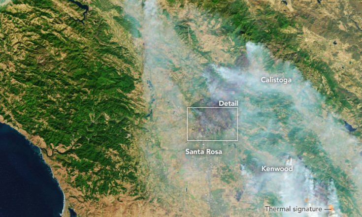 Satellite Photos of California`s Devastating Wildfires (Gallery)
