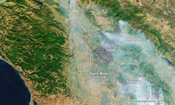 Satellite Photos of California`s Devastating Wildfires (Gallery)