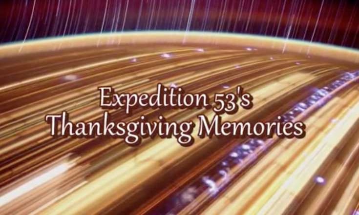 Space Station Astronauts Share Thanksgiving Memories (Video)