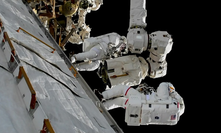 Spacewalkers Wrap Up Robotic Arm Work