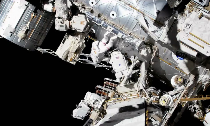 Spacewalking Astronauts Install New Cameras and Prep Space Station for Robotic Work