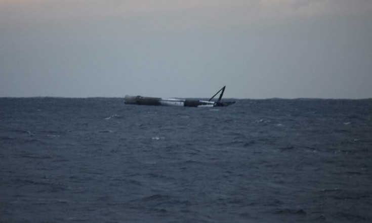 SpaceX Rocket Survives Experimental High-Thrust Landing at Sea (Photo)