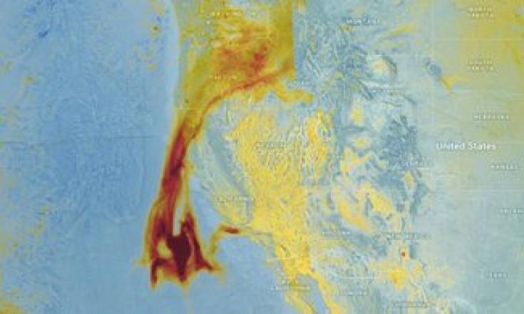 Tracking aerosols from California`s fires