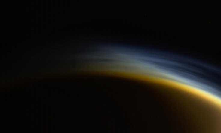 Twilight Haze Shines Over Saturn`s Big Moon Titan in Gorgeous Cassini Photo