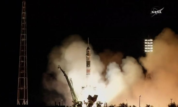 Videos: Soyuz Rocket Climbs into the Night with Three ISS Crew...