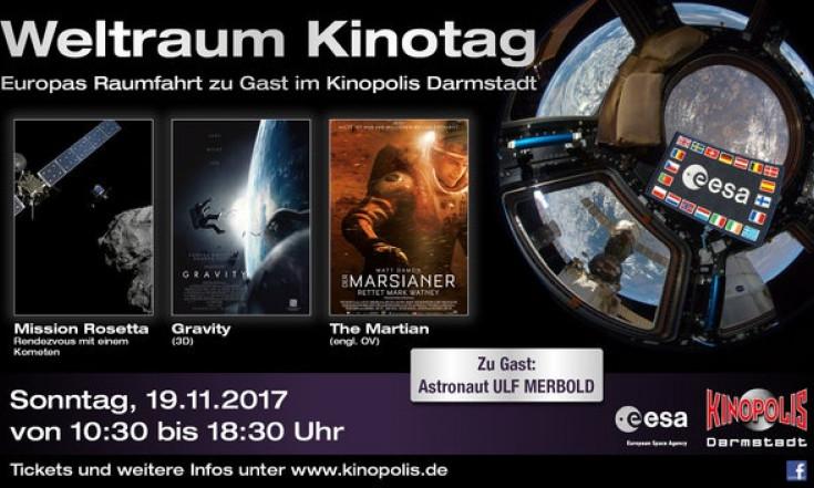 Weltraum-Kinotag in Darmstadt am Sonntag, 19. November