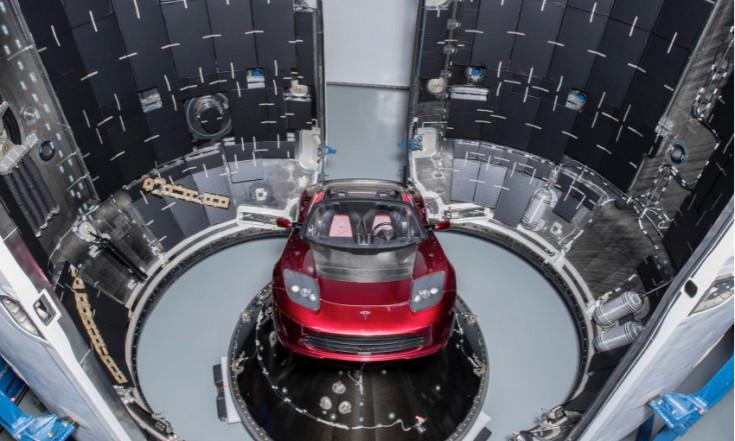 Wozu Elon Muskmit SpaceX Rakete Falcon Heavy Tesla Roadsterz Marsschießt - manager magazin