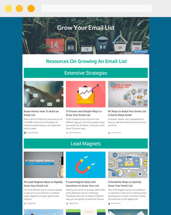 Newsletter Examples: Resource Roundup Newsletter 1