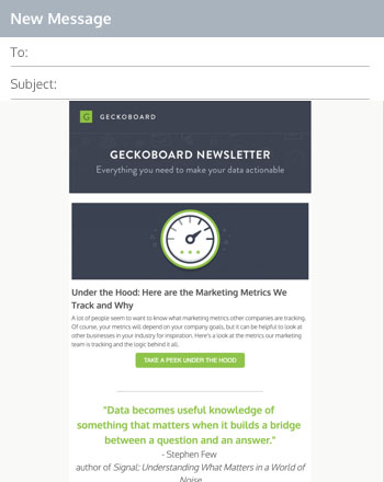 newsletter examples cro weekly newsletter examples geckoboard newsletter
