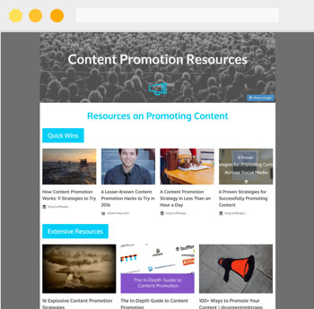 Newsletter Examples: Resource Roundup Newsletter 2