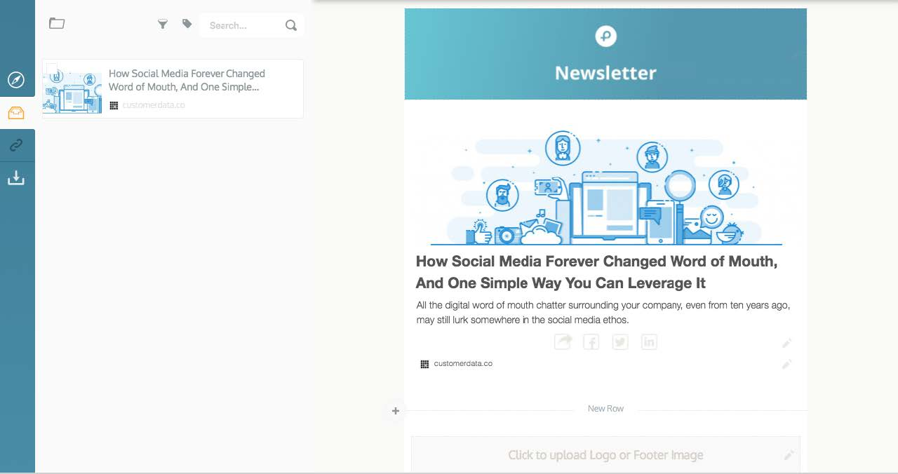 drag and drop to build newsletters fast